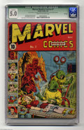 Golden Age (1938-1955):Superhero, Marvel Mystery Comics #7 File Copy (Timely, 1940) CGC Qualified VG/FN 5.0 Cream to off-white pages. Publisher Martin Goodman...