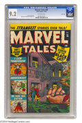 Golden Age (1938-1955):Horror, Marvel Tales #98 River City pedigree (Atlas, 1950) CGC NM- 9.2Off-white pages. Weirdness and horror are on the agenda for t...