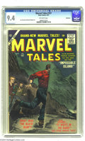 Silver Age (1956-1969):Horror, Marvel Tales #157 Bethlehem pedigree (Atlas, 1957) CGC NM 9.4Off-white pages. Two fellows who knew a thing or two about dra...