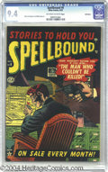 Golden Age (1938-1955):Horror, Spellbound #6 Bethlehem pedigree (Atlas, 1952) CGC NM 9.4 Off-whiteto white pages. Bernard Krigstein and Sol Brodsky provid...