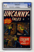 Golden Age (1938-1955):Horror, Uncanny Tales #3 White Mountain pedigree (Atlas, 1952) CGC VF+ 8.5Off-white to white pages. Sol Brodsky cover. Jerry Robins...