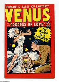 Venus #6 (Atlas, 1949) Condition: FN/VF. Syd Shores cover. This copy could not be encapsulated due to an overhang, but n...