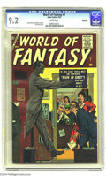 Silver Age (1956-1969):Horror, World of Fantasy #7 Bethlehem pedigree (Atlas, 1957) CGC NM- 9.2White pages. Atlas' artists and writers give us their versi...