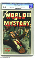 Golden Age (1938-1955):Horror, World of Mystery #6 Bethlehem pedigree (Atlas, 1957) CGC NM- 9.2Off-white to white pages. Atlas certainly assembled a nice ...