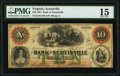 Scottsville, VA- Bank of Scottsville $10 Apr. 18, 1861 G18b Jones-Littlefield BS15-28 PMG Choice Fine 15.<