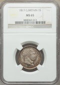 Great Britain, Great Britain: George III Shilling 1817 MS65 NGC,...