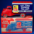 Memorabilia:Miscellaneous, Toy Town Express Van Truck Toy in Original Box (Louis Marx and Company, 1953)....