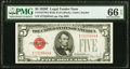 Small Size:Legal Tender Notes, Fr. 1531 $5 1928F Wide II Legal Tender Note. PMG Gem Uncirculated 66 EPQ.. ...