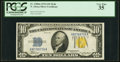 Small Size:World War II Emergency Notes, Fr. 2308 $10 1934 Mule North Africa Silver Certificate. PCGS Very Fine 35.. ...