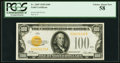 Small Size:Gold Certificates, Fr. 2405 $100 1928 Gold Certificate. PCGS Choice About New 58.. ...