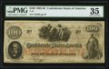 Confederate Notes:1862 Issues, Issued at Bonham T41 $100 1862 PF-12 Cr. 317A PMG Choice Very Fine 35.. ...