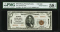 National Bank Notes:Pennsylvania, Ebensburg, PA - $5 1929 Ty. 2 The American National Bank Ch. # 6209 PMG Choice About Unc 58 EPQ.. ...
