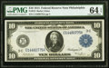 Large Size:Federal Reserve Notes, Fr. 913 $10 1914 Federal Reserve Note PMG Choice Uncirculated 64 EPQ.. ...