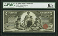 Large Size:Silver Certificates, Fr. 248 $2 1896 Silver Certificate PMG Gem Uncirculated 65 EPQ.. ...