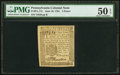 Pennsylvania June 18, 1764 3d PMG About Uncirculated 50 EPQ