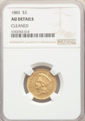 1883 $3 -- Cleaned -- NGC Details. AU....(PCGS# 8005)