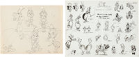 The Moth and His Flame Model Sheet Drawing and Print Group of 2 (Warner Brothers, 1943). ... (Total: 2 Original Art)