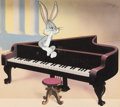 Animation Art:Production Cel, Hare Ribbon/Stage Door Cartoon Bugs Bunny Production Cel on Studio Production Background (Warner Brothers, 1944). ...