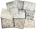 Animation Art:Model Sheet, Warner Brothers Studio Model Sheets Group of 48 (Warner Brothers, c. 1940s). ... (Total: 48 Items)