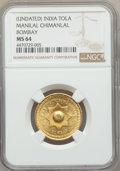 India:British India, India: Manilal Chimanlal & Co. Private Issue gold Tola ND MS64 NGC,...