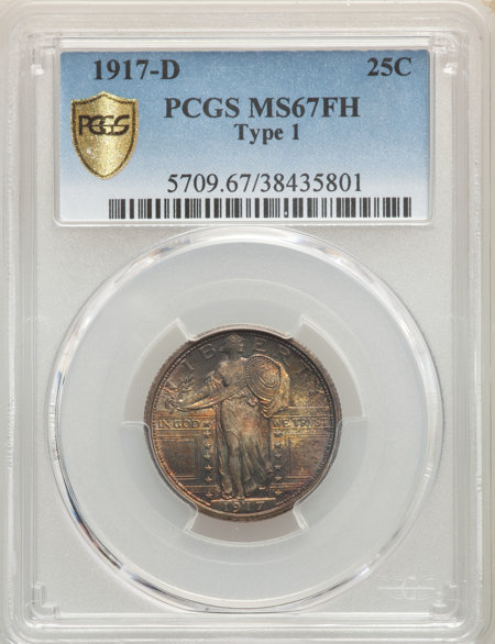 1917-D Type One, FH PCGS Secure 67 PCGS