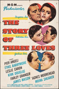 "Movie Posters:Romance, The Story of Three Loves (MGM, 1953). Folded, Fine+. One Sheet (27"" X 41""). Romance.. ..."