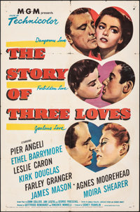 "The Story of Three Loves (MGM, 1953). Folded, Fine+. One Sheet (27"" X 41""). Romance"