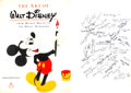 Memorabilia:Print, The Art of Walt Disney: From Mickey Mouse to the Magic Kingdoms First Edition with Multiple Signatures (Disney/Abrams,...