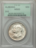 1921 50C Alabama 2x2 MS63 PCGS. PCGS Population: (495/1450). NGC Census: (310/1202). CDN: $330 Whsle. Bid for problem-fr...