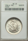 Commemorative Silver, 1936-D 50C Texas MS65 ANACS. CDN: $175 Whsle. Bid for problem-free NGC/PCGS MS65. Mintage 9,039. ...