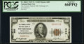 National Bank Notes:Pennsylvania, Pittsburgh, PA - $100 1929 Ty. 1 The Farmers Deposit National Bank Ch. # 685 PCGS Gem New 66PPQ.. ...