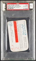Football Collectibles:Tickets, 1944 Football Writers Association of America Season Ticket, PSA Authentic - Only Graded Example!...