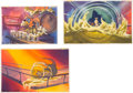 Animation Art:Production Drawing, All Dogs Go to Heaven Painted Storyboard Art Group of 9 (Don Bluth, 1989). ... (Total: 9 Origin...