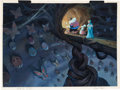 Animation Art:Production Drawing, Thumbelina Painted Storyboard Art Gr...