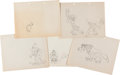 Animation Art:Production Drawing, Leon Schlesinger Studios Animation Drawings Group of 10 (Warner Brothers, c. 1940s). ... (Total: 10 Items)