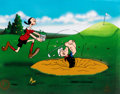 """Animation Art:Limited Edition Cel, Popeye and Olive Oyl """"A Day at the Links"""" Signed Limited Edition Cel, 185/200 (Fleischer/King Features Syndicate, 1998). ..."""