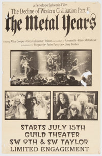 The Decline of Western Civilization Part II: The Metal Years Guild Theater Screening Poster (1988)<