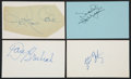 Music Memorabilia:Autographs and Signed Items, Nat King Cole/Dave Brubeck and Other Jazz Musicians Autograph Collection (4). ...
