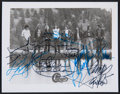 Music Memorabilia:Autographs and Signed Items, Chicago Band Signed Promo Photo. ...