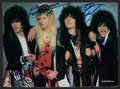 Music Memorabilia:Autographs and Signed Items, Cinderella Band Signed Magazine Page. ...