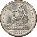 1875-CC T$1 MS64 NGC. Type One Reverse, berry below claw. This near-Gem represents a seldom-seen grade of preservation f...