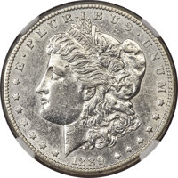 1889-CC $1 -- Cleaned -- NGC Details. AU. Bright, satiny surfaces retain luster in the margins, and the trivial extent o...
