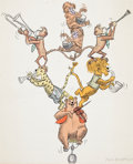 Animation Art:Concept Art, Louis the Bear Concept Art Print by ...