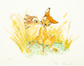 "Memorabilia:Print, ""The First Kiss"" Bambi Limited Edition Lithograph #88/500 (Walt Disney, 1990)...."