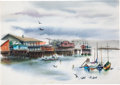 "Animation Art:Production Drawing, ""The Art of Retta Scott"" Waterfront Painting Original Art ..."