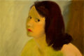 """Animation Art:Production Drawing, """"The Art of Elmer Plummer"""" Woman With Brown Hair Painting ..."""