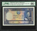 Afghanistan Bank of Afghanistan 50 Afghanis ND (1939) / SH1318 Pick 25a PMG Gem Uncirculated 66 EPQ