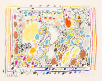 Pablo Picasso (1881-1973) Le Picador II, 1961 Lithograph in colors on wove paper 8-1/4 x 10-5/8 i