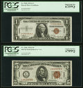 Fr. 2300 $1 1935A Hawaii Federal Reserve Note. PCGS Superb Gem New 67PPQ; Fr. 2302 $5 1934A Hawaii Federal Rese