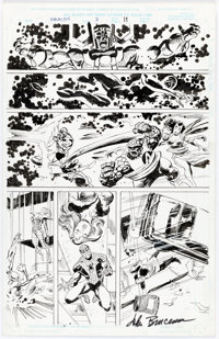 John Buscema and Bill Sienkiewicz Galactus the Devourer #3 Original Art Panel Page (Marvel